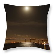 Coronado Bridge Throw Pillow