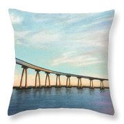 Coronado Bridge Sunset A Throw Pillow