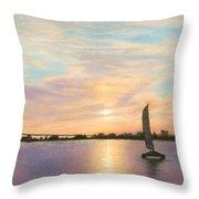 Coronado Bridge Sunset  B Throw Pillow