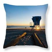 Coronado Lifeguard Station Throw Pillow