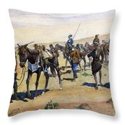 Coronados March, 1540 Throw Pillow