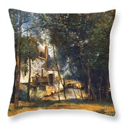 Corot - The Mill Throw Pillow