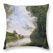Corot: Cathedral, C1855-60 Throw Pillow
