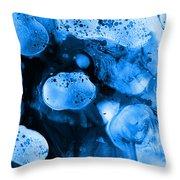 Corporalis Blue Throw Pillow