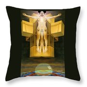 Corprate God Throw Pillow