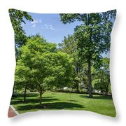 Corr Hall Green Space Throw Pillow