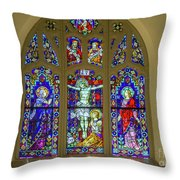 Corr Hall Stain Glass Throw Pillow