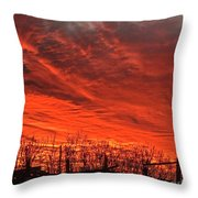 Corral Sunset Throw Pillow