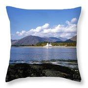 Corran Lighthouse Western Shore Loch Linnhe Fort William Scotland Throw Pillow