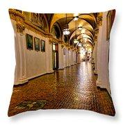 Corridor Of Power In Harrisburg Throw Pillow