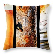 Corrugated Iron Triptych #10 Throw Pillow