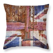 Corrugated Iron United Kingdom Flag Throw Pillow