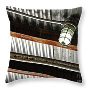 Corrugated Metal Abstract 10 Throw Pillow