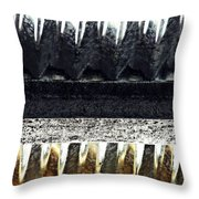 Corrugated Metal Abstract 9 Throw Pillow