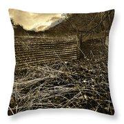 Corrugated Tin Pen Throw Pillow