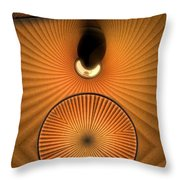 Corrugations In Orange Throw Pillow