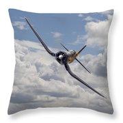 Corsair F4u-n Throw Pillow