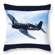 Corsair In Flight Throw Pillow