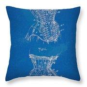 Corset Patent Series 1908 Throw Pillow