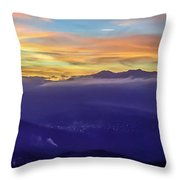 Corsican Sunset Throw Pillow