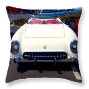 Corvette Convertible Throw Pillow