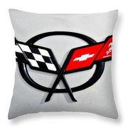 Corvette Flags II Throw Pillow