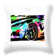 Corvette Pop Art 3 Throw Pillow