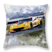 Corvette Racing Throw Pillow