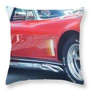 Corvette Soft Top Throw Pillow