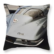 Corvette Split Window Throw Pillow