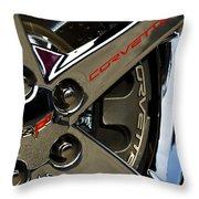 Corvette Spokes II Throw Pillow