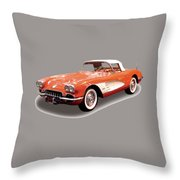 Corvette Tshirt Throw Pillow