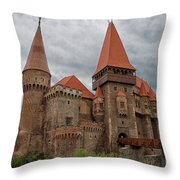 Corvin's Castle Throw Pillow by Yair Karelic