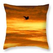 Corvus Silhouette  Throw Pillow