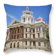 Coryell County Courthouse Throw Pillow
