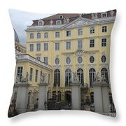 Cosel Palais  -  Dresden -  Germany Throw Pillow