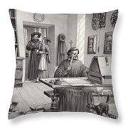 Cosimo Medici Sitting In His Home In Florence Throw Pillow