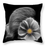 Cosmea Bloom Throw Pillow