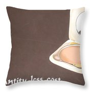 Cosmetics Advert  Throw Pillow