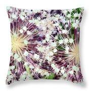 Cosmic Blooms Throw Pillow
