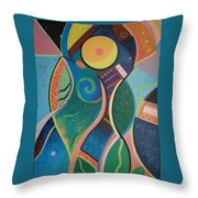 Cosmic Carnival V Aka The Dance Throw Pillow