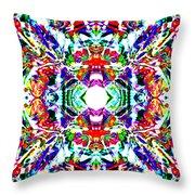 Cosmic Clam Throw Pillow