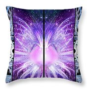 Cosmic Collage Mosaic Left Mirrored Throw Pillow