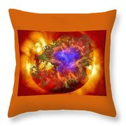 Cosmic Collision Throw Pillow