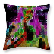 Cosmic Cup Of Coffee Throw Pillow