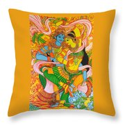 Cosmic Dance Of Krsna  Throw Pillow