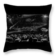 Cosmic Drive Inn Throw Pillow