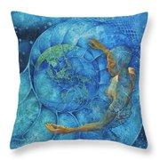 Cosmic Embrace Throw Pillow