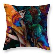 Cosmic Flower Throw Pillow
