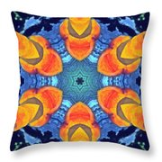 Cosmic Fluid Throw Pillow